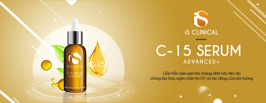 Serum trắng da giảm nám Is Clinical C-15 Advanced+ 1