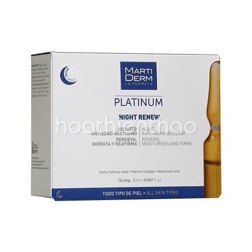 Serum Martiderm Platinum Night Renew