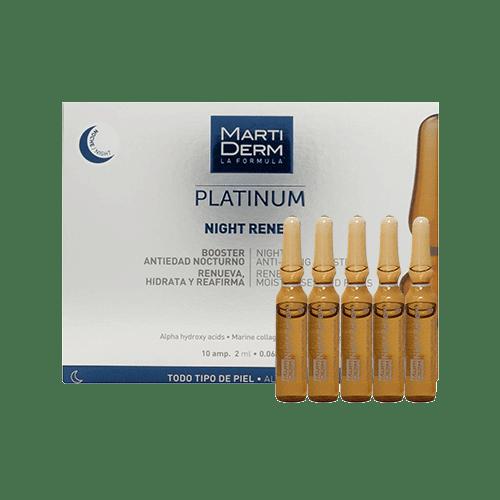 Ampoule tái tạo da dưỡng ẩm ban đêm MartiDerm Platinum Night Renew
