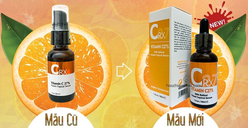 Serum Vitamin C + Retinol làm trắng da Crx đổi mẫu mới