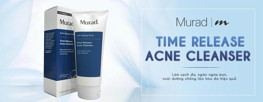 Sữa rửa mặt giảm mụn, chống lão hóa da Murad Time Release Acne Cleanser 1