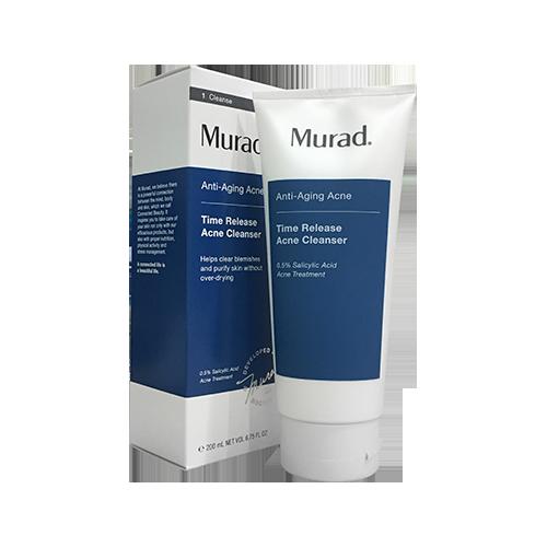 Sữa rửa mặt giảm mụn, chống lão hóa da Murad Time Release Acne Cleanser