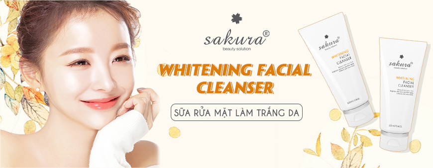 Sữa rửa mặt làm trắng da Sakura Whitening Facial Cleanser