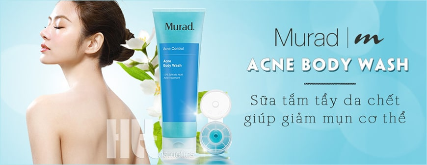 Sữa tắm tẩy da chết trị mụn toàn thân Murad Acne Body Wash