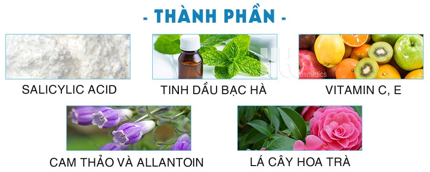 Thành phần Murad Acne Control Rapidly Clear Duo