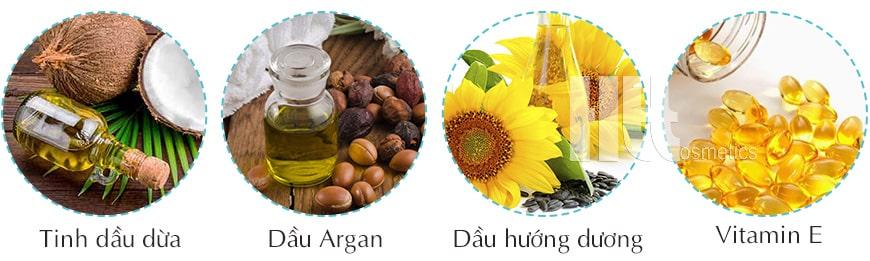 Thành phần chính của Tinh dầu dưỡng tóc Arganatural