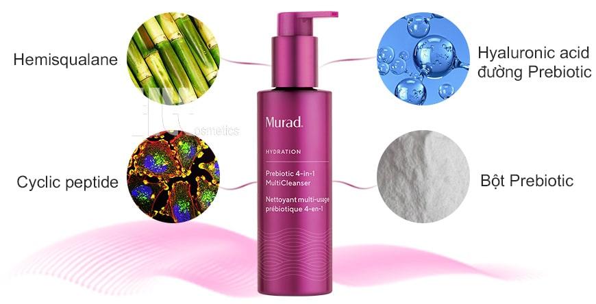 Thành phần Murad Prebiotic 4-in-1 Multi Cleanser