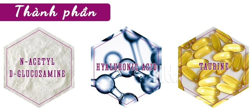 Thành phần chính của viên uống Murad Hydro-Glow Dietary Supplements