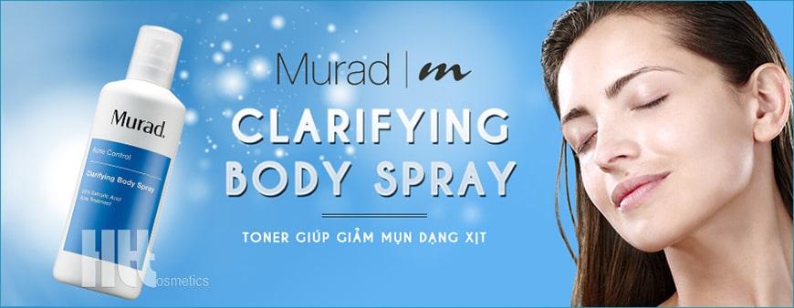 Chai trị mụn dạng xịt Murad Clarifying Body Spray