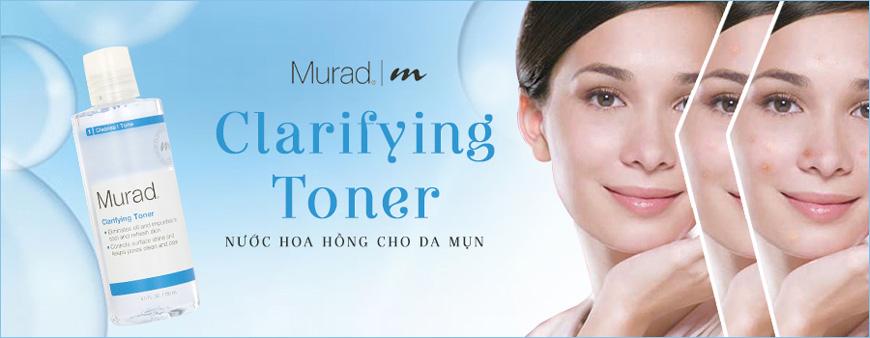 Nước hoa hồng cho da mụn Murad Clarifying Toner 1