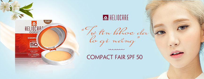 Phấn nền chống nắng Heliocare Compact Fair SPF 50 1