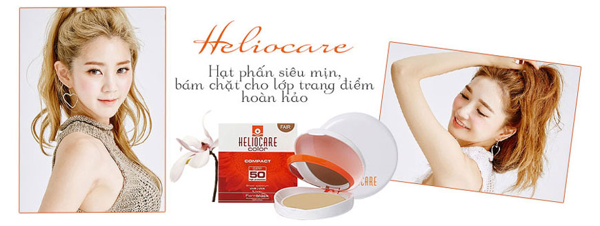 Phấn nền chống nắng Heliocare Compact Fair SPF 50 2