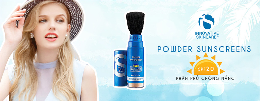 Phấn phủ chống nắng iS Clinical Powder Sunscreens SPF 20