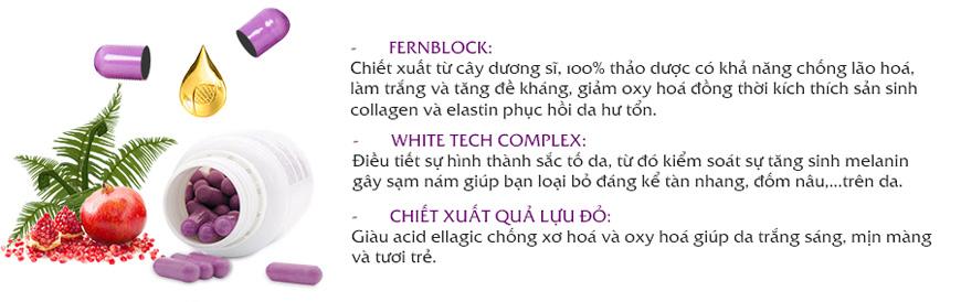 Viên uống chống lão hoá trắng da Heliocare Purewhite 3