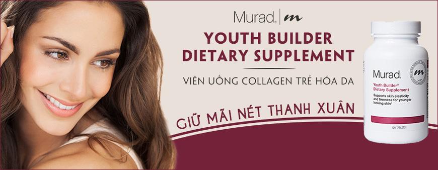 Viên uống trẻ hóa da giảm nếp nhăn Murad Youth Builder Collagen Supplement 1