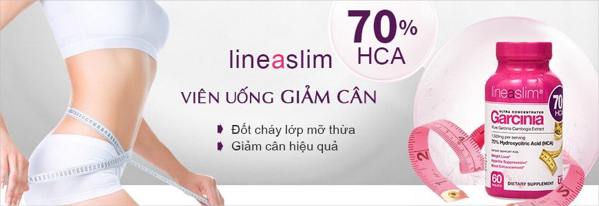 Viên uống giảm cân Lineaslim Garcinia Cambogia 70% HCA