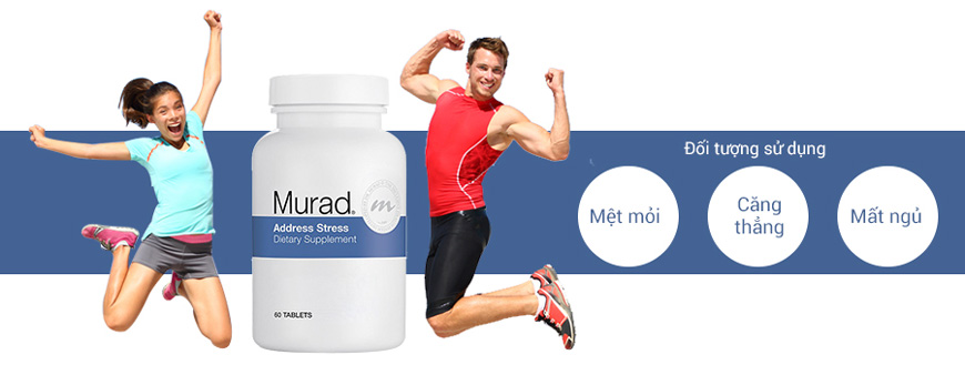 Hiệu quả viên uống Murad Address Stress Dietary Supplement