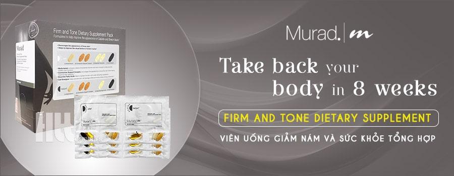 Viên uống trị nám da Murad Firm and Tone Dietary Supplement
