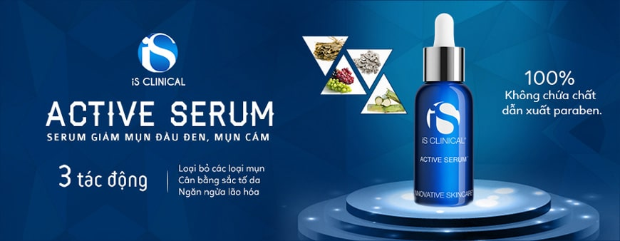 Serum trị mụn cám iS Clinical Active