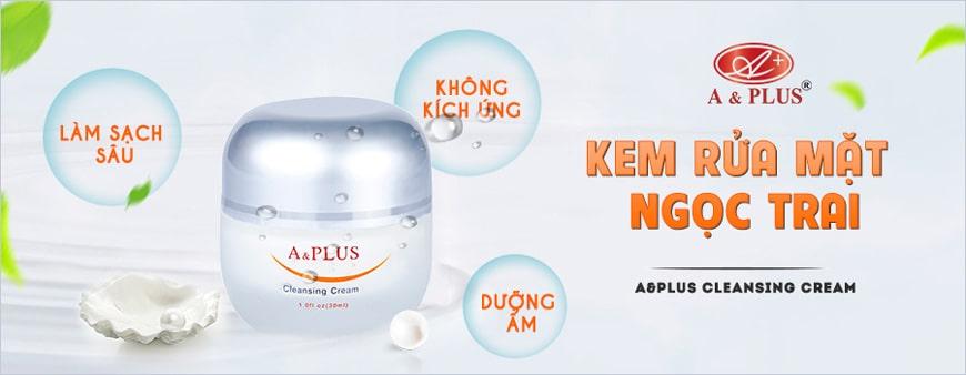 Sữa rửa mặt ngọc trai A&Plus dạng kem Cleansing Cream A002