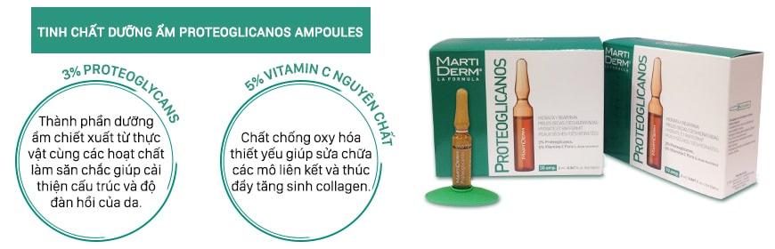 Thành phần Serum MartiDerm Proteoglicanos Ampoules